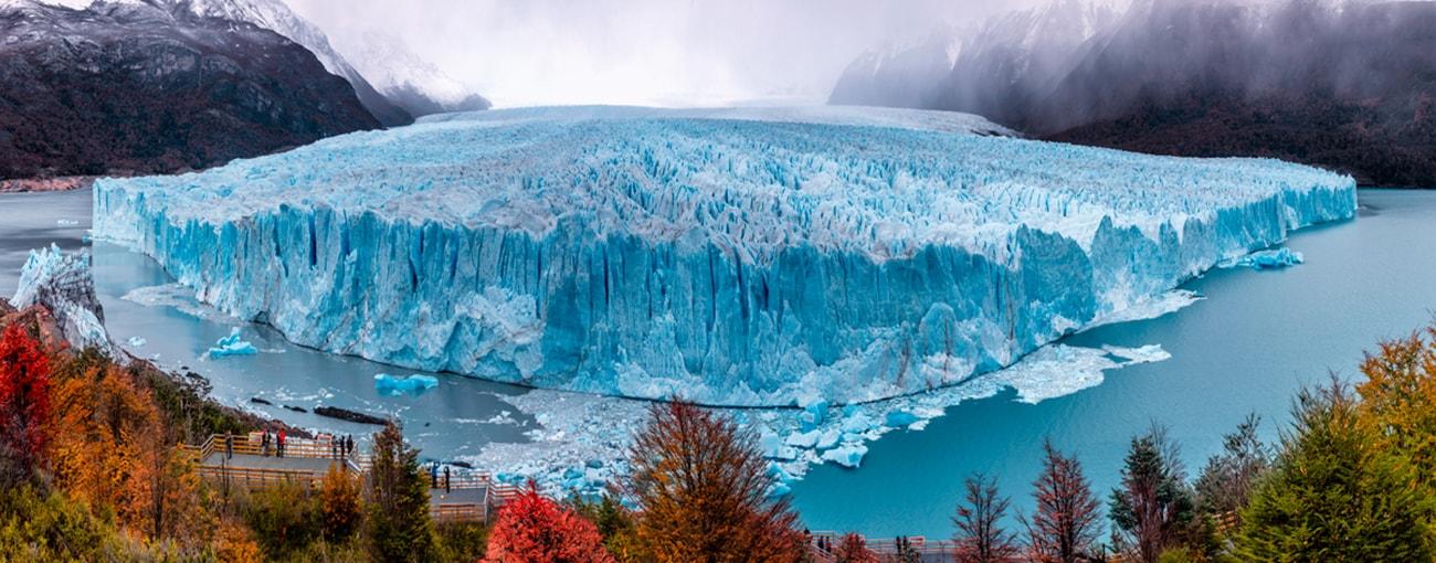 panorama view of the glacier Perito Moreno