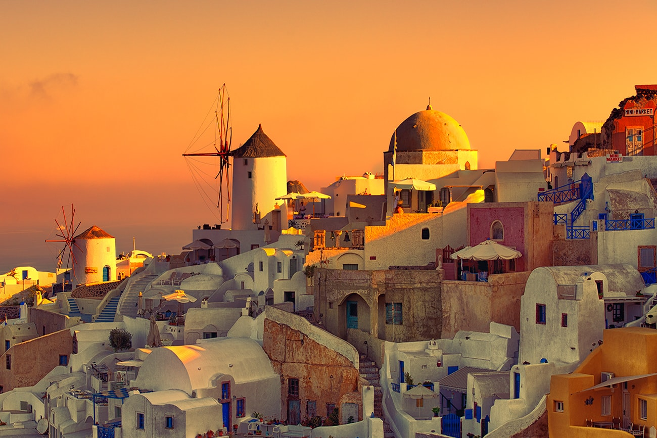 the clasic view from OIa,Santorini