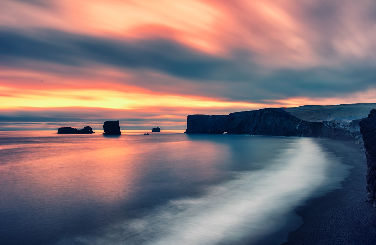 long exposure shoot in iceland