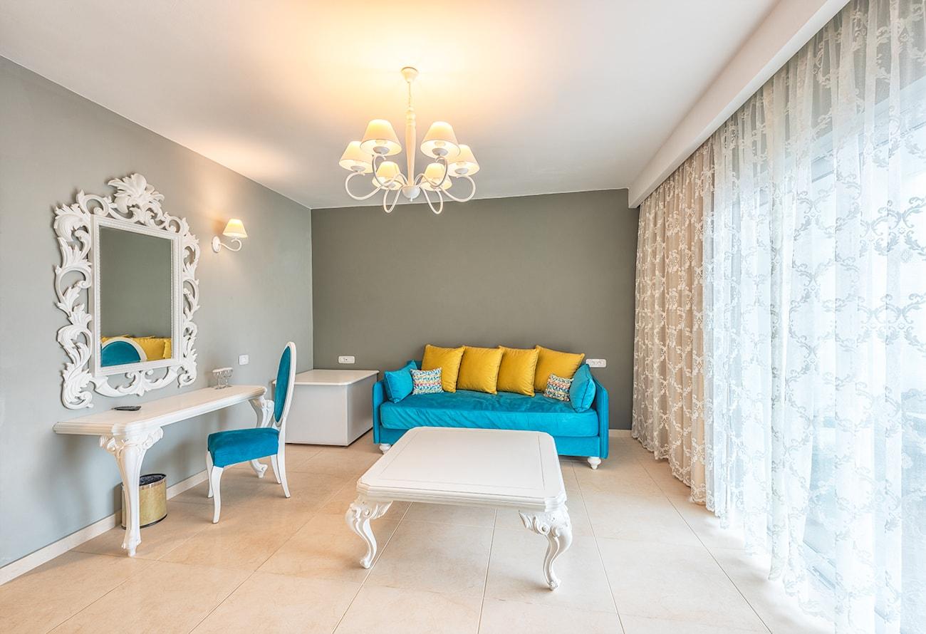 bedroom suite in anemos hotel