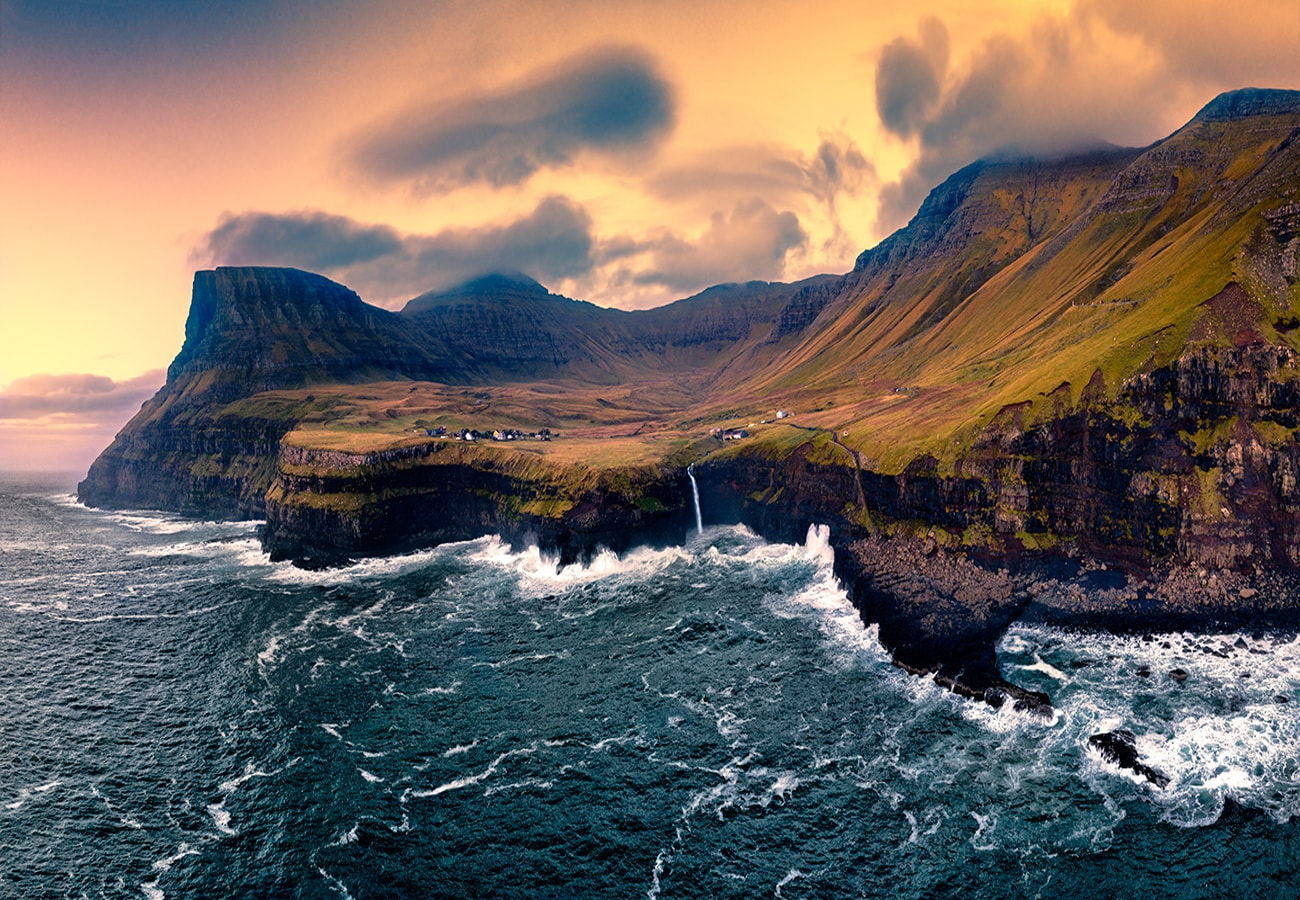 drone photography in faroe islands during my workshops