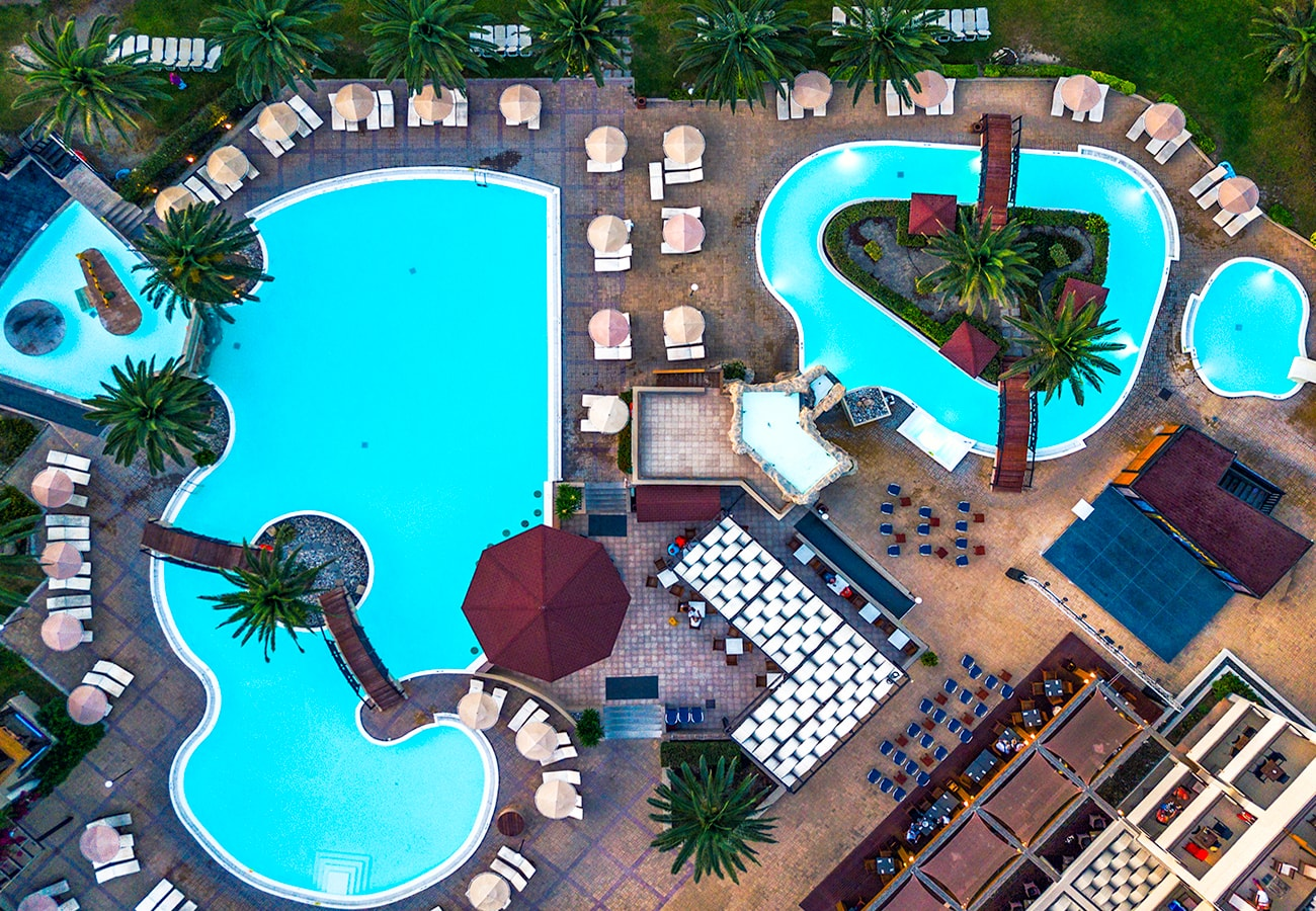 hotels aerial photography in rodos island