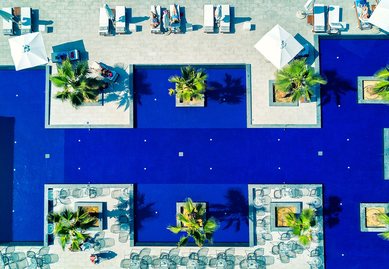 Anemos 5star hotel aerial photography pool