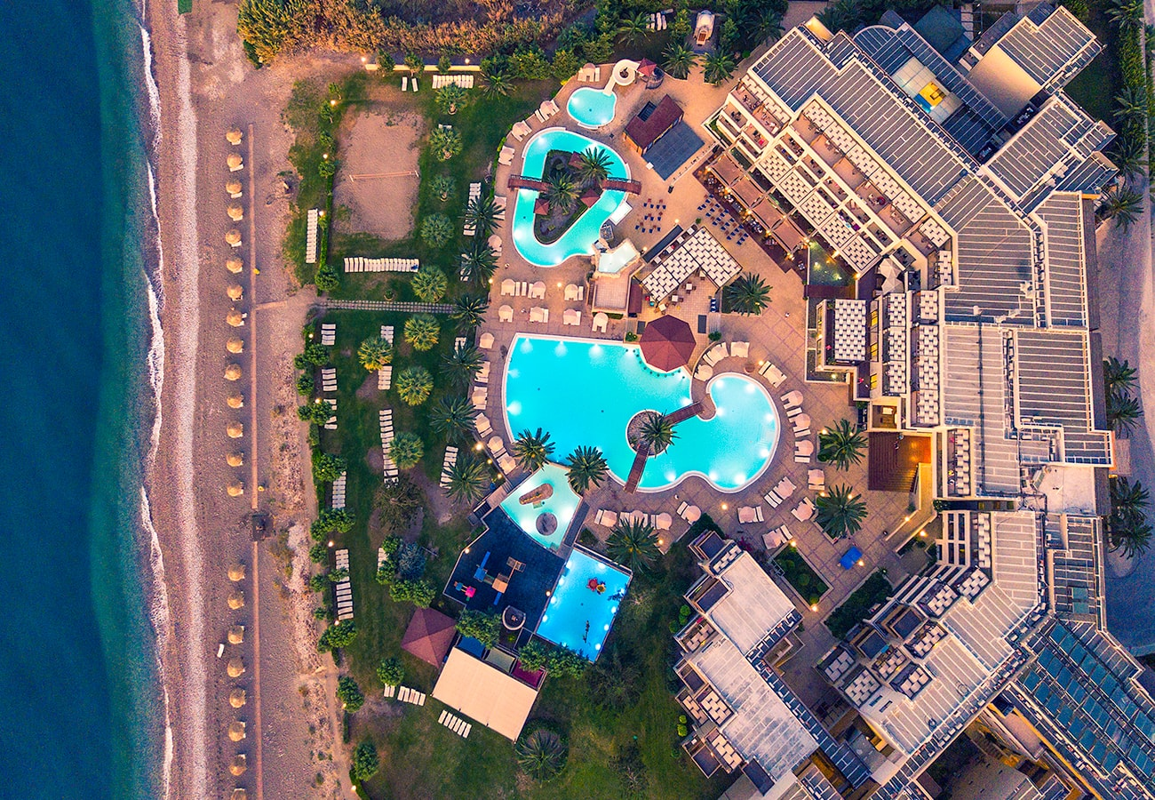 rodos hotel aerial photography drone
