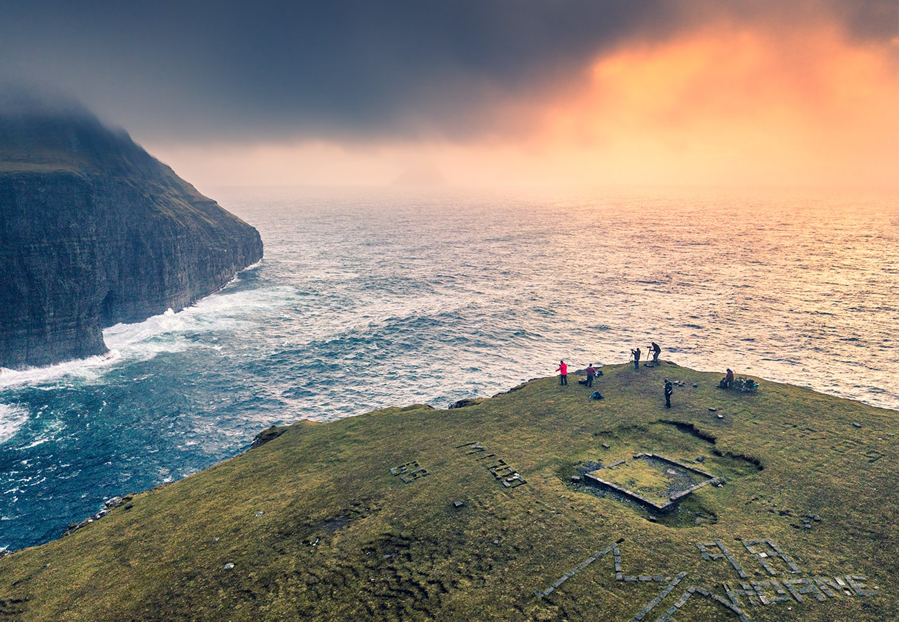 my team at faroe islands landscape photography workshop