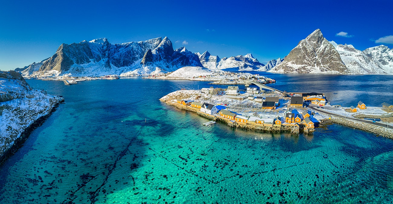 Sakrisøy is Lilliput among the fishing villages of the Lofoten Islands, yet it can still offer everything that is characteristic of a true fishing village