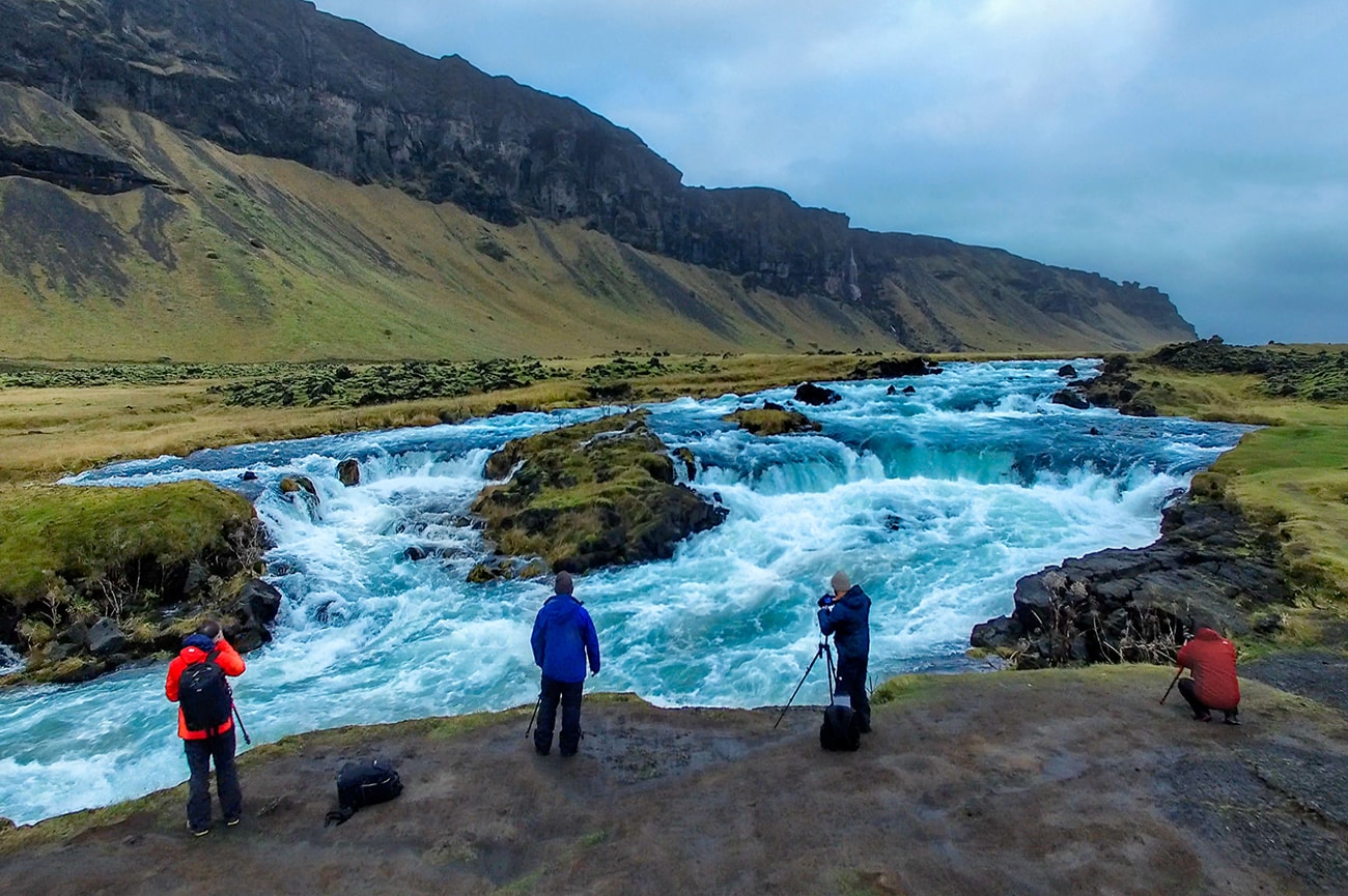 a powerful river in Iceland